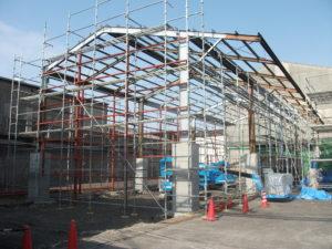 工場内建屋改修工事